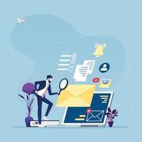 conceito de pesquisa de informações online vetor