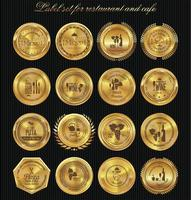 rótulo dourado para design de menu de restaurante