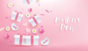 banner de celebração do dia das mães vetor