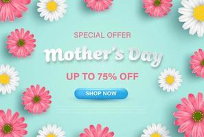 banner de vendas de oferta especial de dia das mães