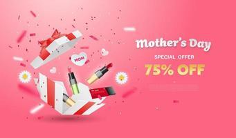 design de caixa surpresa de dia das mães vetor
