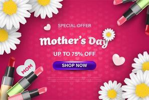 feliz dia das mães venda celebração papel de parede vetor