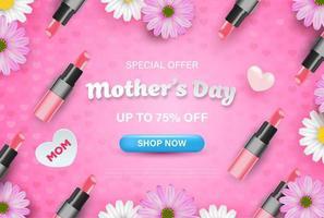 oferta especial dia das mães fundo vetor