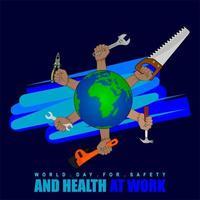 Dia Mundial da Segurança e Saúde no Trabalho vetor