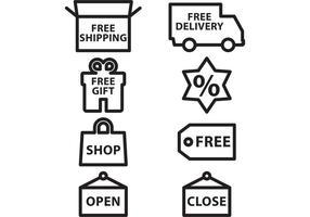 Vetores de ícone de e-shop