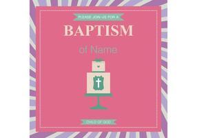 Vector de cartão de batismo