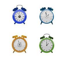 conjunto de conjunto de ícones de relógios de alarme vetor