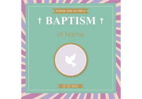 Cartão do baptismo Vetor do batismo