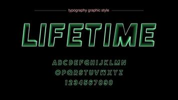 tipografia de linha de néon verde