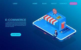 conceito on-line de compras de comércio eletrônico