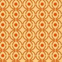 laranja e marrom amarelo retrô sem costura padrão geométrico vetor