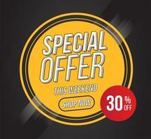 banner circular de oferta especial
