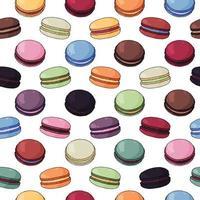 padrão sem emenda de biscoito colorido