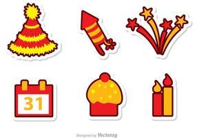 Feliz ano novo Véspera de Vetores Pack 2