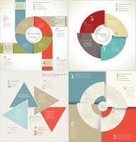 conjunto de modelo de infográfico de estilo de papel em camadas