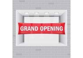 Vetor Showcase de Grand Opening