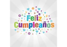 Cartão Vetor Cumpleaños