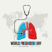 gráfico do dia mundial da pneumonia vetor
