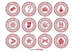 Selos de borracha de Natal afligidos vetor