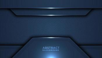 camadas de sobreposição de tecnologia de malha azul escuro vetor