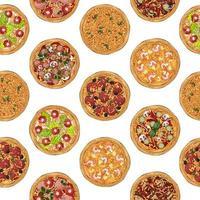 padrão de receita de pizzas vetor