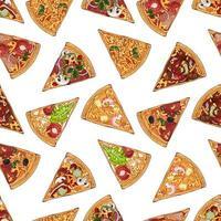 padrão de mistura de pizzas vetor