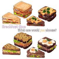 tipos de sanduíches de pão vetor