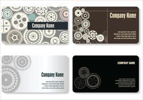 conjunto de cartão de visita de equipamento moderno vetor