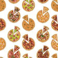 padrão de fatia de pizzas vetor