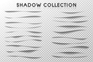 conjunto de escova de borda de sombra vetor