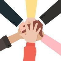 pessoas juntos de mãos dadas vetor