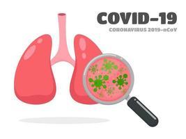 pulmões covid-19 ou coronavírus vetor