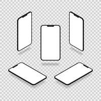 ângulos de maquete de smartphone vetor