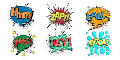conjunto de bolha do discurso em quadrinhos vetor