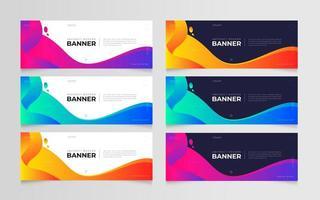modelo de conjunto de banner gradiente abstrato moderno