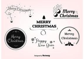 Rótulos de vetores de Natal grátis