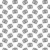 padrão de ícone da câmera vetor