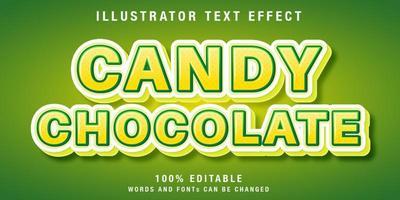 efeito de texto editável em amarelo e verde vetor