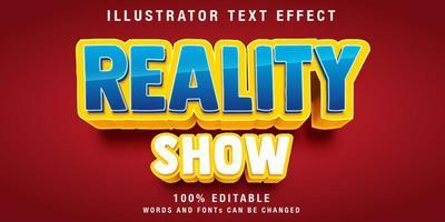 efeito de texto editável com sombra amarela vetor