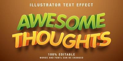 efeito de texto editável ondulado vetor