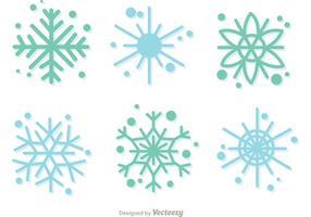 Pacote de vetor de decoração de flocos de neve de Cristmas