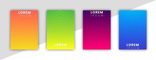 capa mínima com design e pontos de gradiente vetor