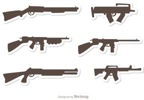 Conjunto de vetores conjunto de armas 1