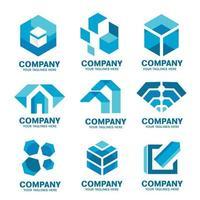 coleção de ícones de logotipo empresarial moderno vetor