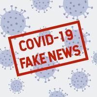 design de cartaz de notícias falsas de coronavírus vetor