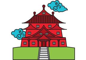 Vetor do templo chinês