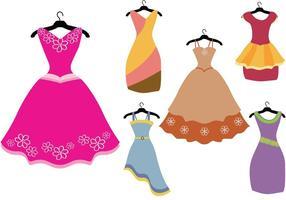 Vetores de vestido de fantasia coloridos