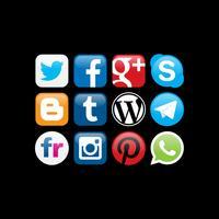 Vetores de logotipo de redes sociais