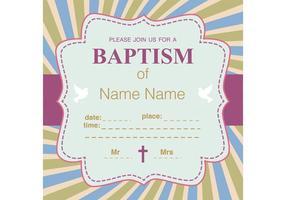 Convite do vetor do batismo