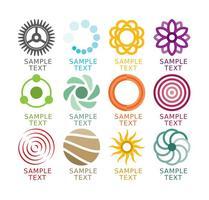 Elementos do vetor do logotipo